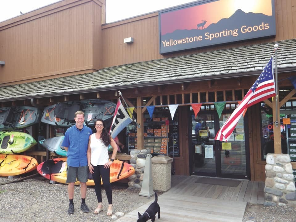 yellowstone sporting goods facade