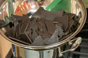 Chocolate bars to be melted